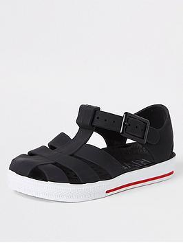 river-island-mini-mini-boys-jelly-caged-sandals-black