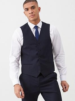 V by Very V By Very Stretch Suit Waistcoat - Navy Picture
