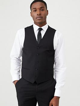 V by Very V By Very Stretch Suit Waistcoat - Black Picture