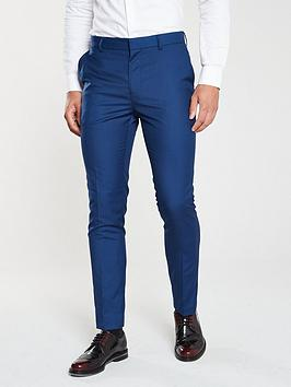 V by Very V By Very Slim Work Trousers - Blue