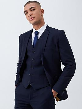 V by Very V By Very Slim Suit Jacket - Navy Picture