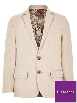 river-island-boys-linen-suit-blazer-cream