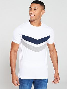 v-by-very-cut-amp-sew-chevron-t-shirt-whitenavygrey
