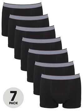 V By Very Seven Pack Trunks - Black