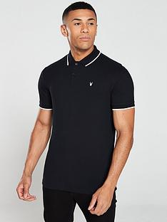 v-by-very-tipped-pique-polo-shirt-black