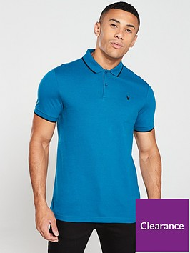 v-by-very-tipped-polo-shirt-turquoise