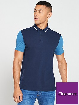 v-by-very-colournbspblock-polo-shirt-navy