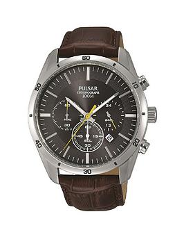pulsar-pulsar-black-and-yellow-detail-chronograph-dial-brown-leather-strap-mens-watch