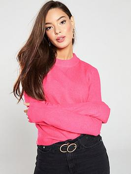 river-island-river-island-crew-neck-knitted-jumper-pink