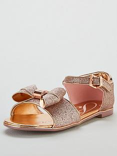 b68c94d0780dee Baker by Ted Baker Toddler Glitter Bow Sandals - Gold