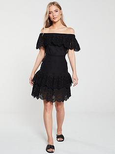 v-by-very-tiered-broderienbspbardotnbspdress-black