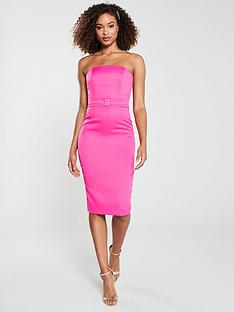 v-by-very-premium-origami-pencil-dress-cerise