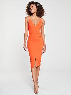 v-by-very-valentina-crepe-midi-dress-orange