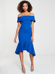 v-by-very-aria-bardot-fitted-fishtail-midi-dressnbsp--cobalt
