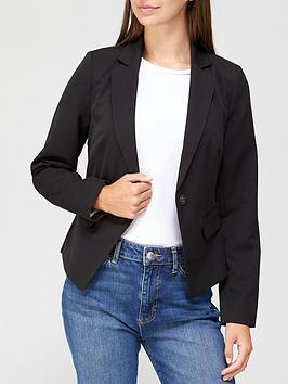 V by Very V By Very Short Core Blazer - Black Picture