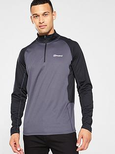 berghaus-tech-long-sleeve-zip-top-carbonnbsp