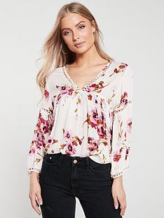 v-by-very-floral-ladder-trim-tunic-print