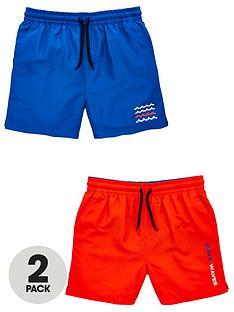 v-by-very-boys-2-pack-swim-shorts-bluered