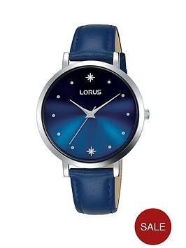 lorus-lorus-blue-sunray-crystal-set-star-dial-blue-leather-strap-ladies-watch