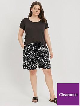 evans-leopard-print-shorts-black
