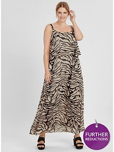 evans-zebra-bardot-dress