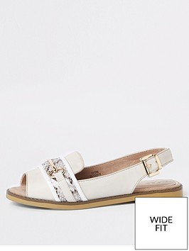 river-island-river-island-wide-fit-peep-toe-sling-back-sandal-beige