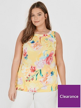 evans-printed-sleeveless-top-yellow