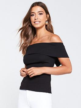v-by-very-bardot-top-black