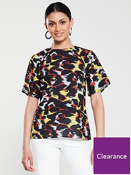 v-by-very-abstract-shell-top-animal-print
