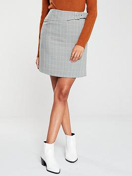 v-by-very-gingham-belted-mini-skirt-check