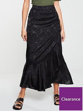v-by-very-jacquard-wrap-skirt-black