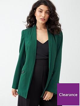 v-by-very-pocket-blazer-green