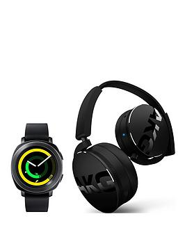 samsung-gear-sport-black-with-free-akg-y50bt-bluetooth-headphones