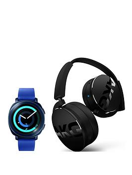 Samsung Samsung Gear Sport Blue With Free Akg Y50Bt Bluetooth Headphones Picture