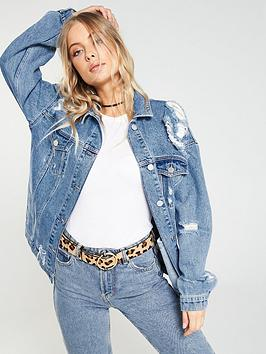 v-by-very-distressed-longline-denim-jacket-mid-wash