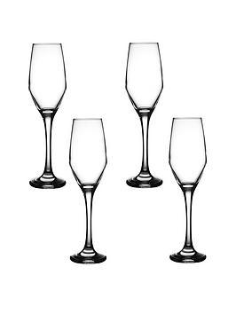 Ravenhead Ravenhead Majestic Set Of 4 Flute Glasses Picture