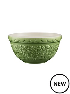 mason-cash-in-the-forest-21-cm-green-embossed-mixing-bowl