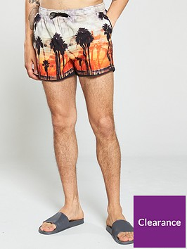 river-island-orange-palm-print-swim-shorts