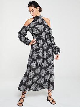 v-by-very-cold-shoulder-maxi-dress-mono-print
