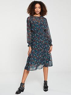 v-by-very-shirred-waist-midi-dress-floral
