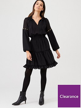 v-by-very-eyelet-detail-ruffle-dress-black