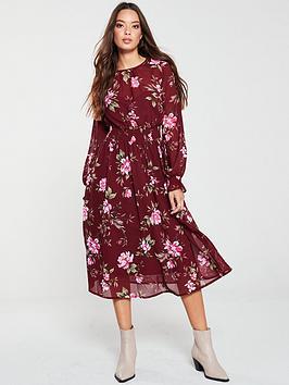 v-by-very-shirred-waist-midi-dress-floral