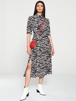 V by Very V By Very Midi Dress - Zebra Picture