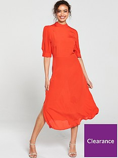 v-by-very-balloon-sleevenbspmidi-dress-red