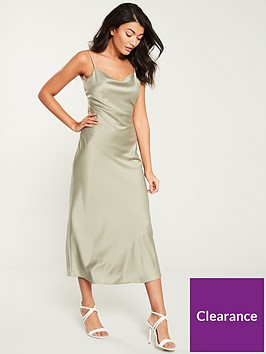 warehouse-satin-slip-dress-khaki