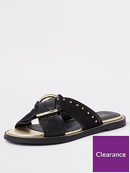river-island-river-island-cross-front-slip-on-sandal-black