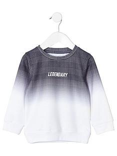 river-island-mini-boys-check-fade-sweatshirt-grey