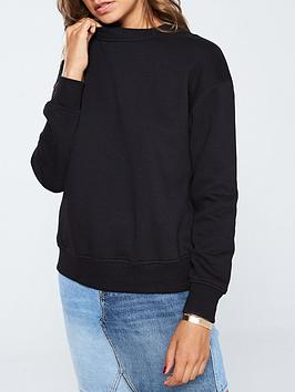 V by Very V By Very The Essential Basic Sweat - Black Picture