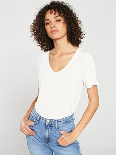v-by-very-the-essential-premium-soft-touch-v-neck-t-shirt-cream