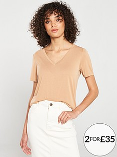 v-by-very-the-essential-premium-soft-touch-v-neck-t-shirt-camel